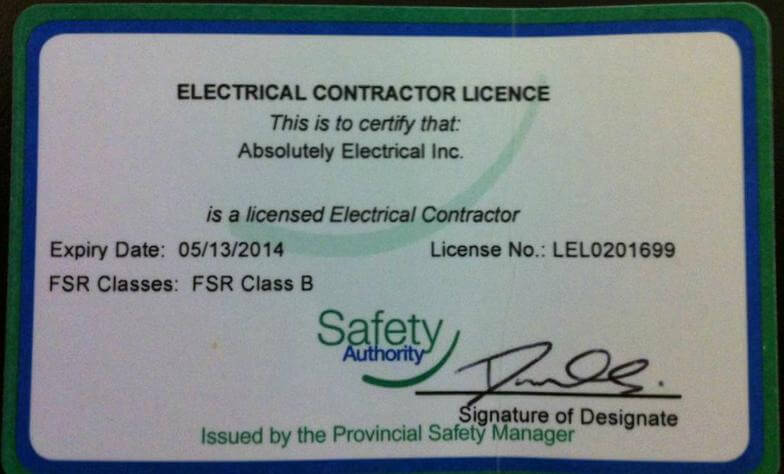 contractor_license - Absolutely electricalAbsolutely electrical